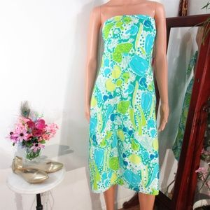 Lilly Pulitzer Steamed Vegetables Tie Back A-Line
